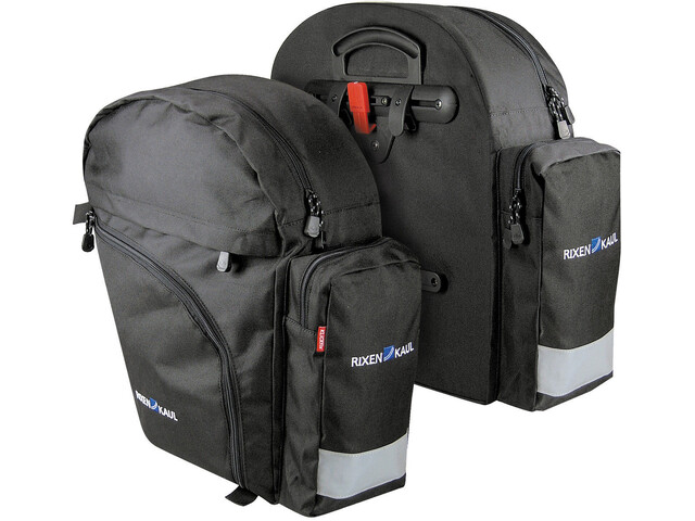 KlickFix Backpack Cykeltaske sort